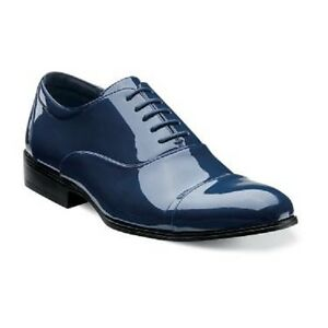 Navy colored dress shoes