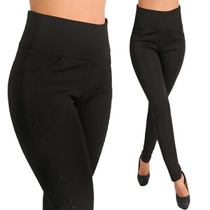 thermique-pantalon-stretch-large-taille-haute-pierres-de-strass-treggings