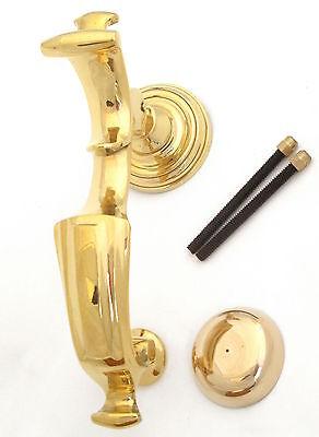 Solid Antique Brass Victorian Scroll Door Knocker XL20