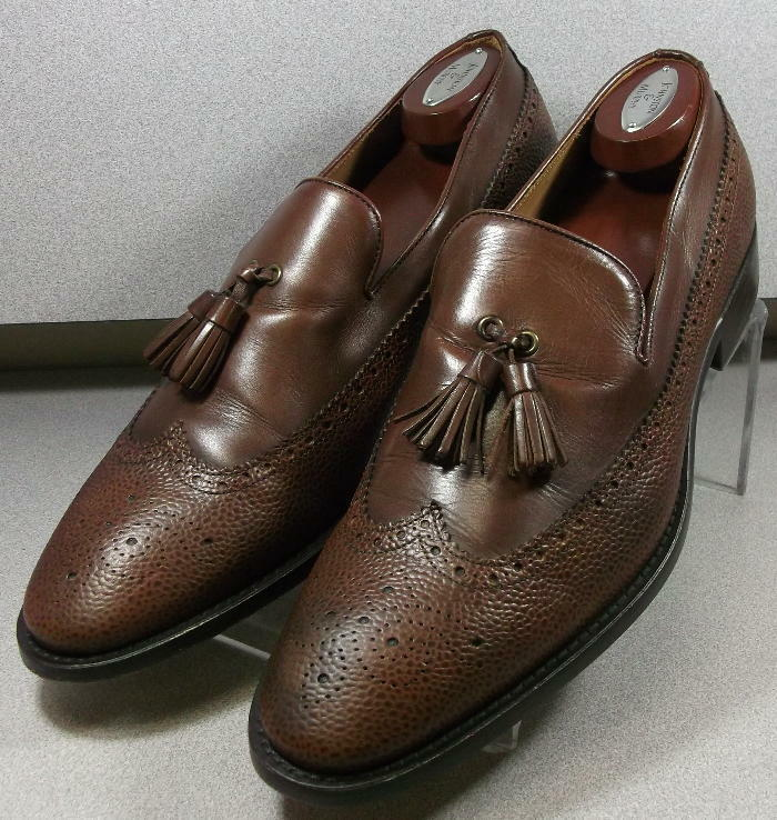 240923 PFi60 Men's Shoes Size 8.5M Brown Leather Made In Italy Johnston & Murphy