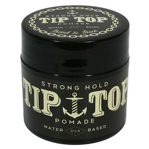 TIP-TOP-Strong-Hold-Water-Based-Pomade-4-25oz-Free-Comb-NEW