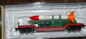 Bachmann N Scale 52' USAF Missile Center Depressed Flat Car Silver Series 71391