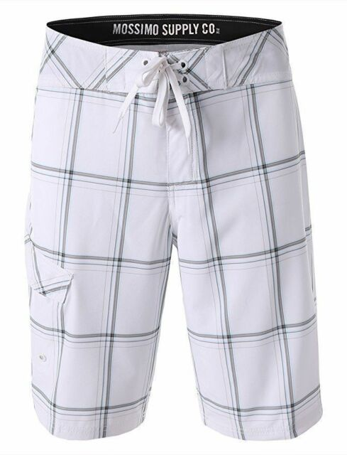 fd40517d14 Mossimo Supply Co Swim Trunks Mens Size 34 White Plaid Target Below Knee