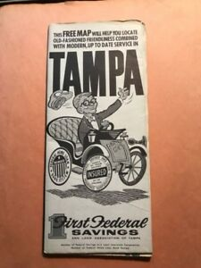 TAMPA First Federal Savings & Loan oc. 1959 Dolph Map Co ... on