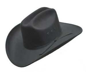 Black Band Western Faux Felt Show Cowboy Hat ADULT Rodeo Elastic ... b26045678e1