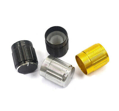 10Pcs Trendy Volume Control Knobs For 6mm Knurled Shaft Potentiometer US