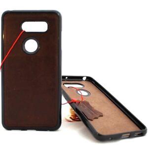 more photos 7f333 20dca Details about Genuine leather case for LG V30 magnetic soft rubber slim  cover handmade davis