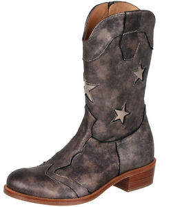 Details zu Zecchino d'Oro A18 1880 Cowboy Stiefel Stiefeletten Sterne Leder Gr. 35 39 Neu