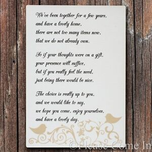 Whitecream forever love wedding gift poemwishing well invitation image is loading white cream forever love wedding gift poem wishing stopboris Images