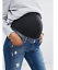 M49//1 Missguided Maternity Ripped Skinny Jean Mid Blue