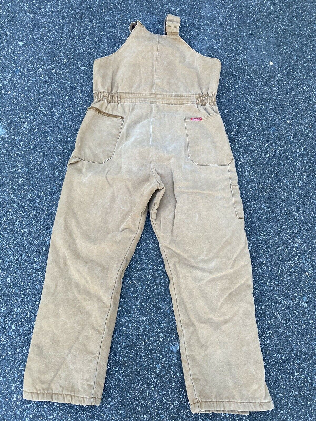 DICKIES INSULATED BIB OVERALLS DUCK BROWN SIZE 42… - image 9