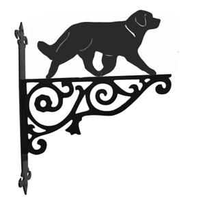 Leonberger Dog Metal Garden Ornamental Hanging Bracket