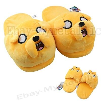 Adventure Time With Jake Soft Plush Stuffed Slipper one Pair