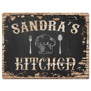 PP1707 SANDRA\'S KITCHEN Plate Chic Sign Home Room Kitchen Decor ...