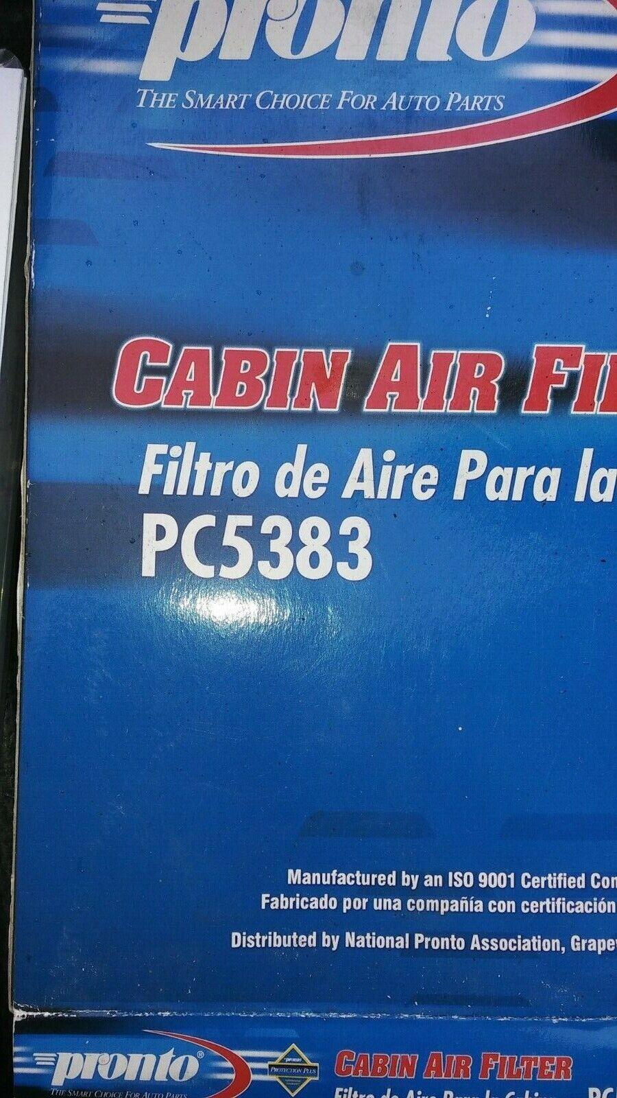 Cabin Air Filter-Standard Pronto PC5383