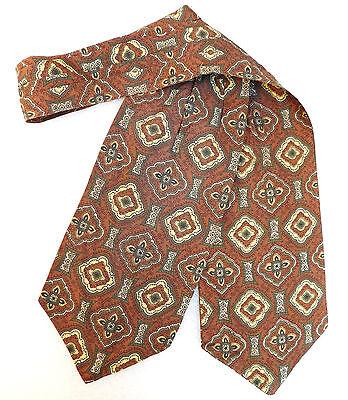 Sammy patterned day cravat Dicel Vintage 1950s mens fashion clothing Brown