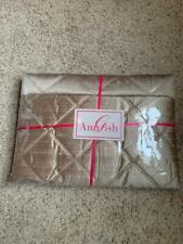 $438 NEW Ann Gish Neiman Marcus Big Diamond Palomino 100/% Silk KING Pillow Sham