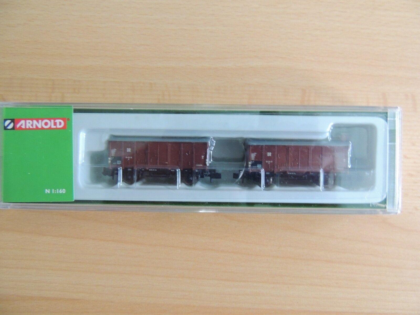 HN6091   Güterwagen-Set mit 2 Flachdachwagen    OVP