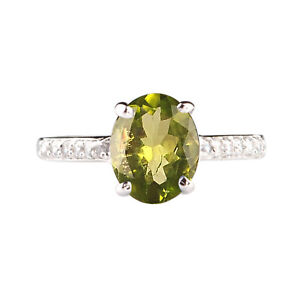 925-Sterling-Silver-Oval-Cut-1-85Ct-Natural-Peridot-Solitaire-Engagement-Ring