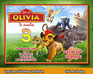 Details About Lion Guard Birthday Party Invitation Personalized U PRINT Printable
