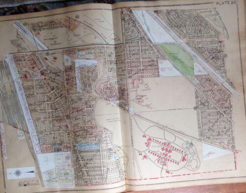 1930 HARVARD TERRACE WALBRIDGE ZOO TOLEDO STATE HOSPITAL TOLEDO OHIO ATLAS MAP