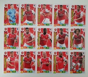 2019-20-Arsenal-Team-Set-Soccer-Cards-Panini-Adrenalyn-EPL-15-cards