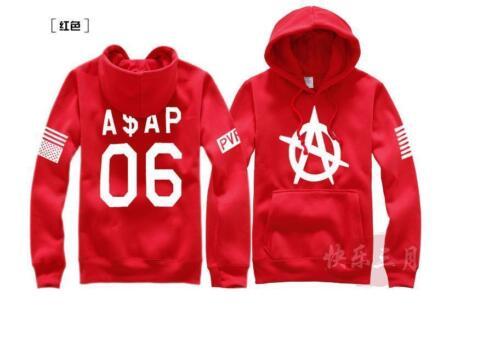 Hip Hop Men VSVP ASAP ROCKY Fleece Hoodie Sweatshirt Coat