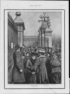 1901-Antique-Print-ROYALTY-QUEEN-VICTORIA-DEATH-Buckingham-Palace-Notice-156