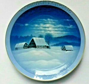 WEIHNACHTSTELLER-1910-ROSENTHAL-Guldbrandsen-034-Winterfriede-034-PORZELLAN-ca-20-cm