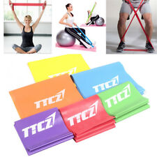 New 0.9m Elastic Yoga Pilates Rubber Stretch Resistance Exercise Fitness Band