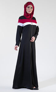 Mia Front Zipper Abaya Jilbab