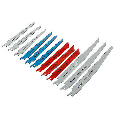 12x Universal Reciprocating Saw Blades Metal Wood Cutting Sabre For Bosh Dewalt