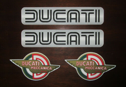 4-teiliges Aufkleber-Set 2 x Ducati Königswelle gross DUCATI 2 x Meccanica