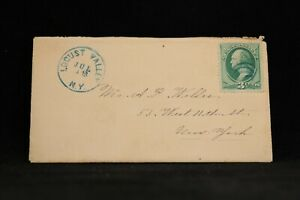 New-York-Locust-Valley-1879-Cover-Letter-Blue-CDS-Queens-Nassau-Co