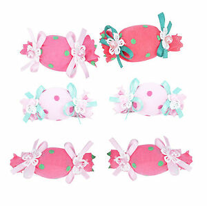 Girl baby toddler kid favour dancing hair clips candy bow hair clips