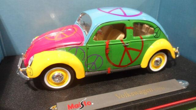 VOLKSWAGEN COCCINELLE 1951 Peace And Love 1/18 MAISTO 35820 voiture miniatur