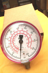 1 RED MADE IN USA  A/C  GAUGE FOR  R22, R12, R502 HI PRESSURE TO 500