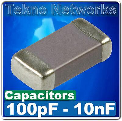 SMD/SMT 0402/0603/0805/1206 Ceramic Capacitors  -100pcs [ Range: 100pF - 10nF  ]
