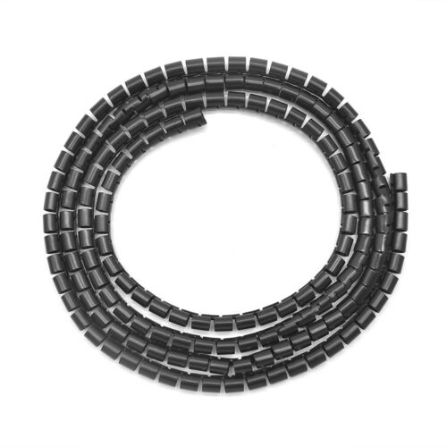 2m 25mm Cable Cord Tidy PC TV Wire Organising Tool Kit Spiral Wrap Home Office-K