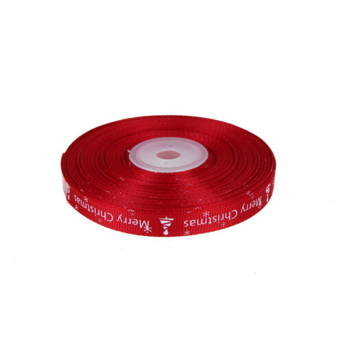 25yards//Roll Satin Ribbon Gift Wrapping Merry Christmas Happy New Year Craft HT