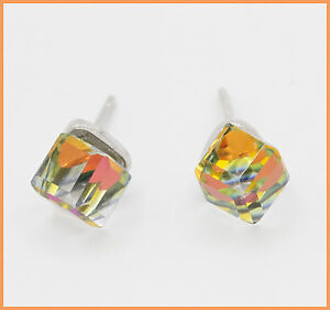 Multicolor-Kristall-Ohrstecker-gelb-orange-gruen-aus-925-Sterlingsilber-Beutel