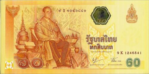 2006 ~ King Rama IX Thailand Banknote Comm 60 Baht 60th Anni to Throne UNC