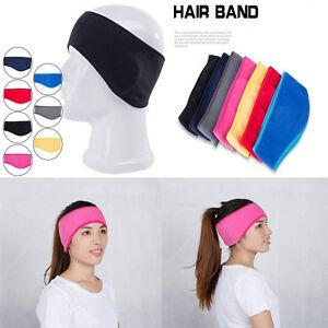 Womens Winter Unisex Stretchy Headband Fleece Earband Earmuffs Ear Warmers