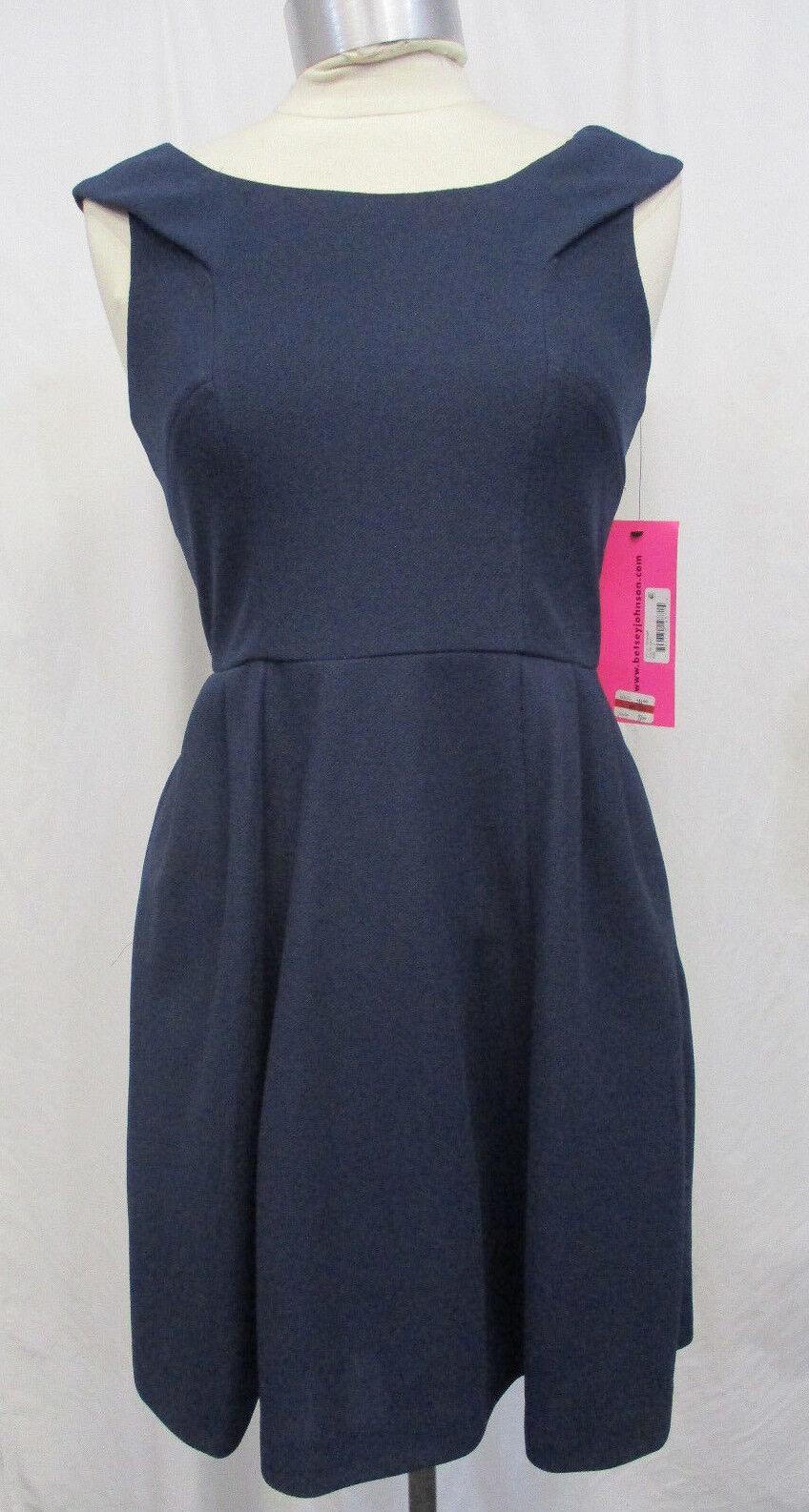 Women Betsey Johnson Size 4 Navy bluee Collared Dress MSRP  158 17 347