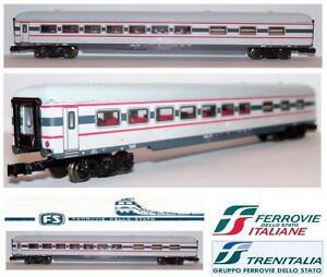 Wagon-wagon artisanal fabriqué à la main Freccia Bianca Fs Italy Scale-n