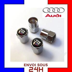4x-Bouchons-de-valve-AUDI-Logo-voiture-moto-valves-tire-caps-cap-sline-roue-pneu