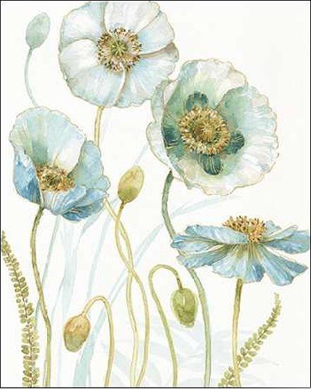 Lisa Vérification  My verthouse Fleurs VII Civière-image de L'écran Fleurs Bleu