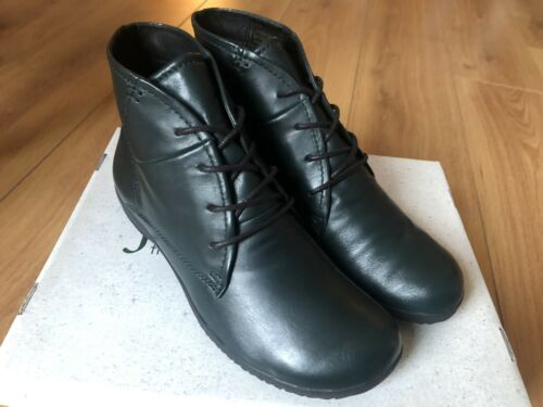 Neue Marke Josef SEIBEL NALY 09 Damen Schnürstiefeletten-Dark Green Leather UK 8/42