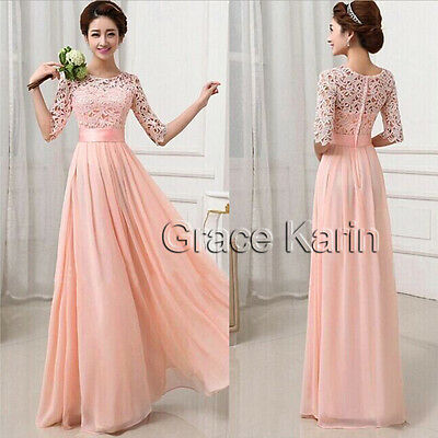 SUMMER BEACH BOHO SUN Long Lace Prom Evening Bridesmaid Cocktail Dress PLUS SIZE
