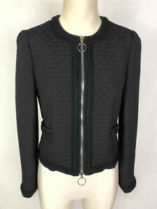 Donna Woman s Jacket Giacca Sz Moschino Chic 42 Giubbotto Blazer Cheap Zip gIx6qTS